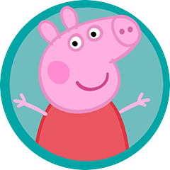 badge peppa pig