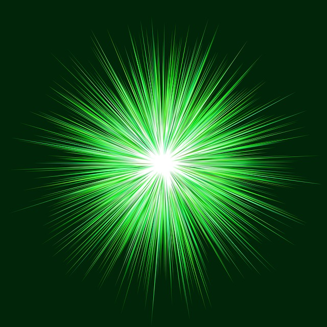 vert, blast, arrière plan