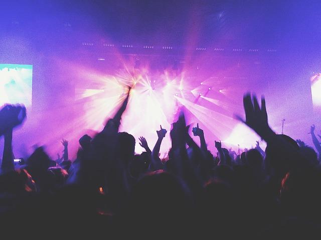 concert, musique, foule