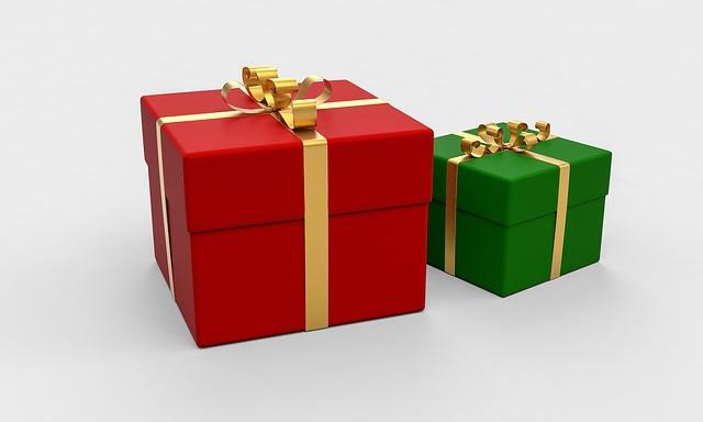 présente, package, cadeau