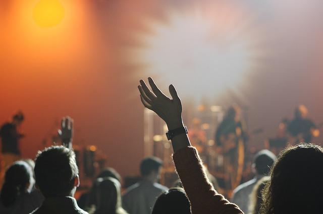 public, concert, musique