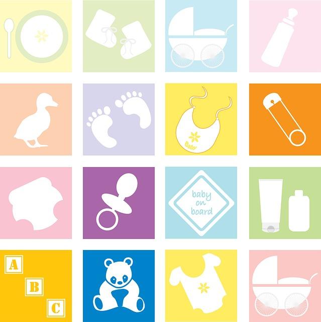 bébé, éléments, accessoires