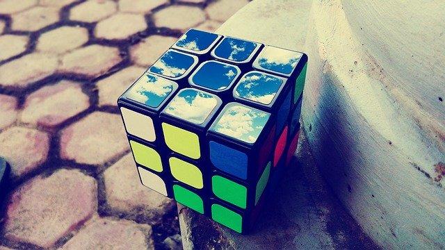 rubik ' s, cube, puzzle