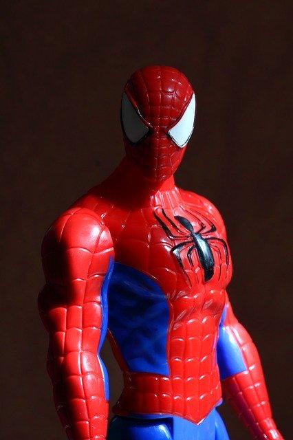spider-man, jouet, portrait