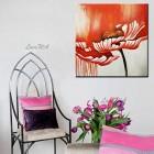 ZNYB Tableau Design Moderne À la Main Toile Fleur Peinture à l'huile Art sans Cadre Floral Mur Art décoration de la Maison peintures pour Salon – Jeux pour enfant