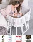 BabyBay ORIGINAL Lit Bébé Cododo, Lit d'appoint couleur bois Verni – nouvelle version – Divertissement pour enfant