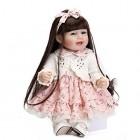 GAOFQ Réaliste Nouveau-né bébé poupée Jumeaux garçon et Fille 22 Pouces 55 cm Silicone Reborn bébé Vivant poupées Enfants Jour présent Cadeaux de Mariage – Jeux pour enfant