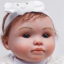 HWZZ Ressemble Vraiment À Un Matériau en Vinyle De Silicone Reborn Bébé Poupée Fille Nouveau-Né Bébé Meilleur Cadeau Compagnon pour Enfants, 20 Pouces,50cm – Jouets pour enfant