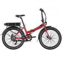 Legend Siena Vélo Électrique Pliable de Ville Smart eBike Roues de 24 Pouces, Freins Disque Hydraulique, Batterie 36V 14Ah Panasonic (504Wh), Rouge Strawberry – Divertissement pour enfant