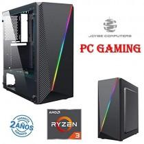 Ordinateur Gaming JOYBE/PC Gaming AMD RYZEN 3 3100 4X 3,60 GHz / 8 Go DDR4 / 240 Go SSD/T. Carte graphique NVIDIA GT 1030 2 Go / Windows 10 / Gamer PC Jeux / WiFi USB Cad – Jeux pour enfant