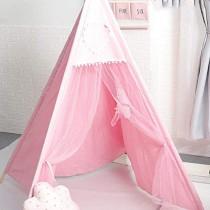 YAMMY Tente de Jeu pour tipi pour Enfants Maison de Jeu pour Enfants Indiens – Tente de Princesse en Toile 100% Coton avec fenêtre et étui de Transport pour l'intérieur e – Jouet pour enfant