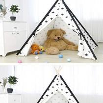YLJYJ Princesse Filles tipi Blanc 100% Coton Toile tipi Coton Enfants Jouer Tente Indien Enfants Jouer Maison Tente avec fenêtre pour intérieur A (Tente) – Jeux pour enfant