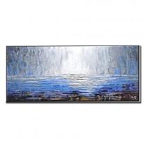 ZNYB Tableau Toile Decoration Murale Couteau peintures abstraites à la Main Peinture à l'huile Abstraite Mur Art Bleu peintures oeuvre Mur Photos pour Salon décor – Jouets pour enfant