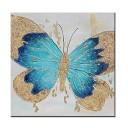 ZNYB Peinture Abstraite sur Toile Papillon Toile Peinture à l'huile à la Main Abstraite Feuille d'or Animal Mur Art sur Toile Mur Photo Art vitrine pour Chambre d'enfants – Jouets pour enfant