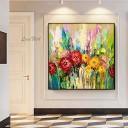 ZNYB Tableau Abstrait Moderne Mur Toile Fleur Art Abstrait Peinture à l'huile Texture Floral Mur Art décoration de la Maison pièce pour Salon – Jouets pour enfant