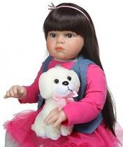 ZXYMUU Reborn Enfant en Bas âge Fille Nouveau-né bébé poupée, 28 Pouces Adora Fille Doux Toucher Viny poupée, vêtements pour Photo Prise modèle, Ensemble Cadeau de poupée – Jouets pour enfant